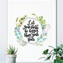 Botanical - Let Your Faith Be Bigger Print - Izzy & Pop
