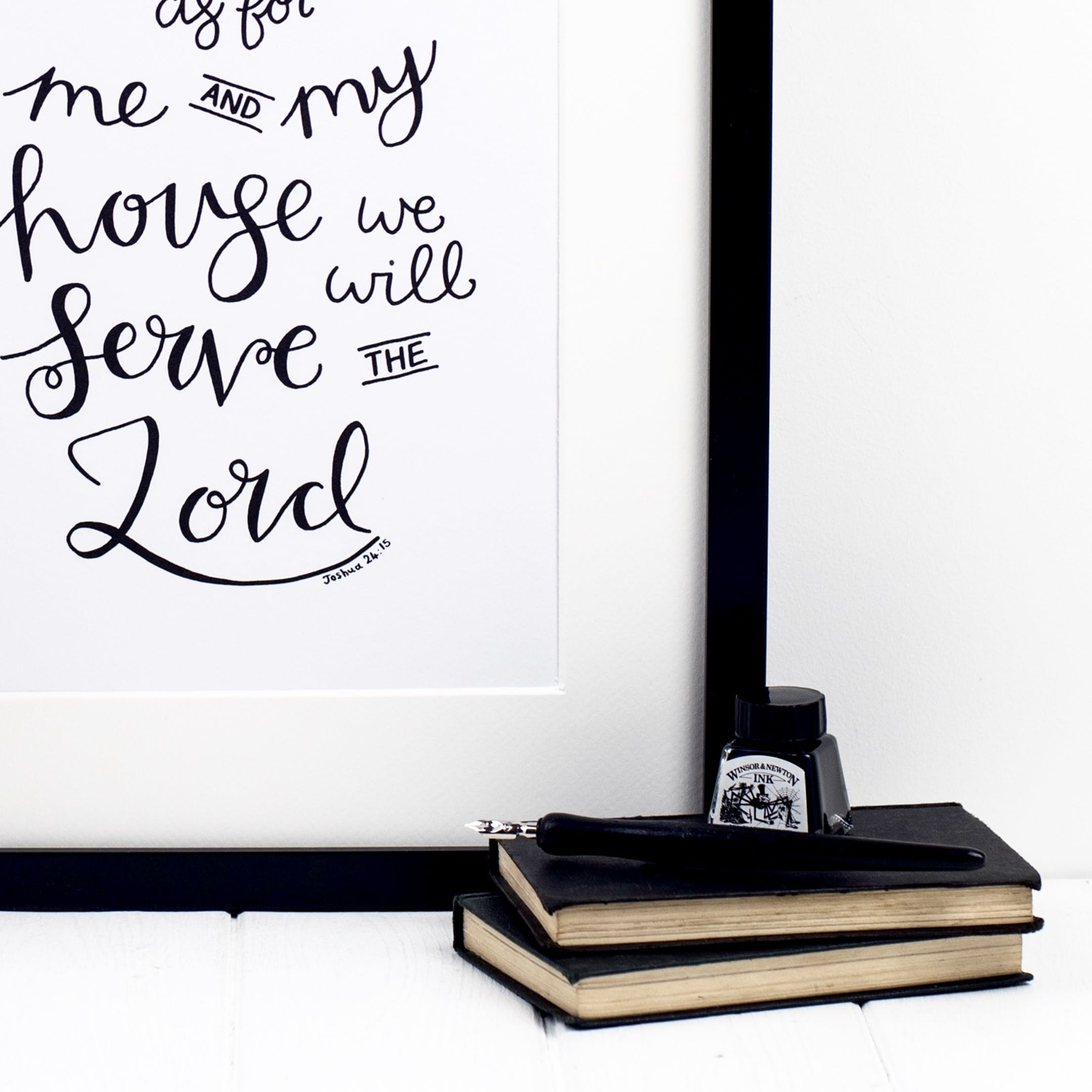 But As For Me And My House - Joshua 24:15 Print - Izzy and Pop