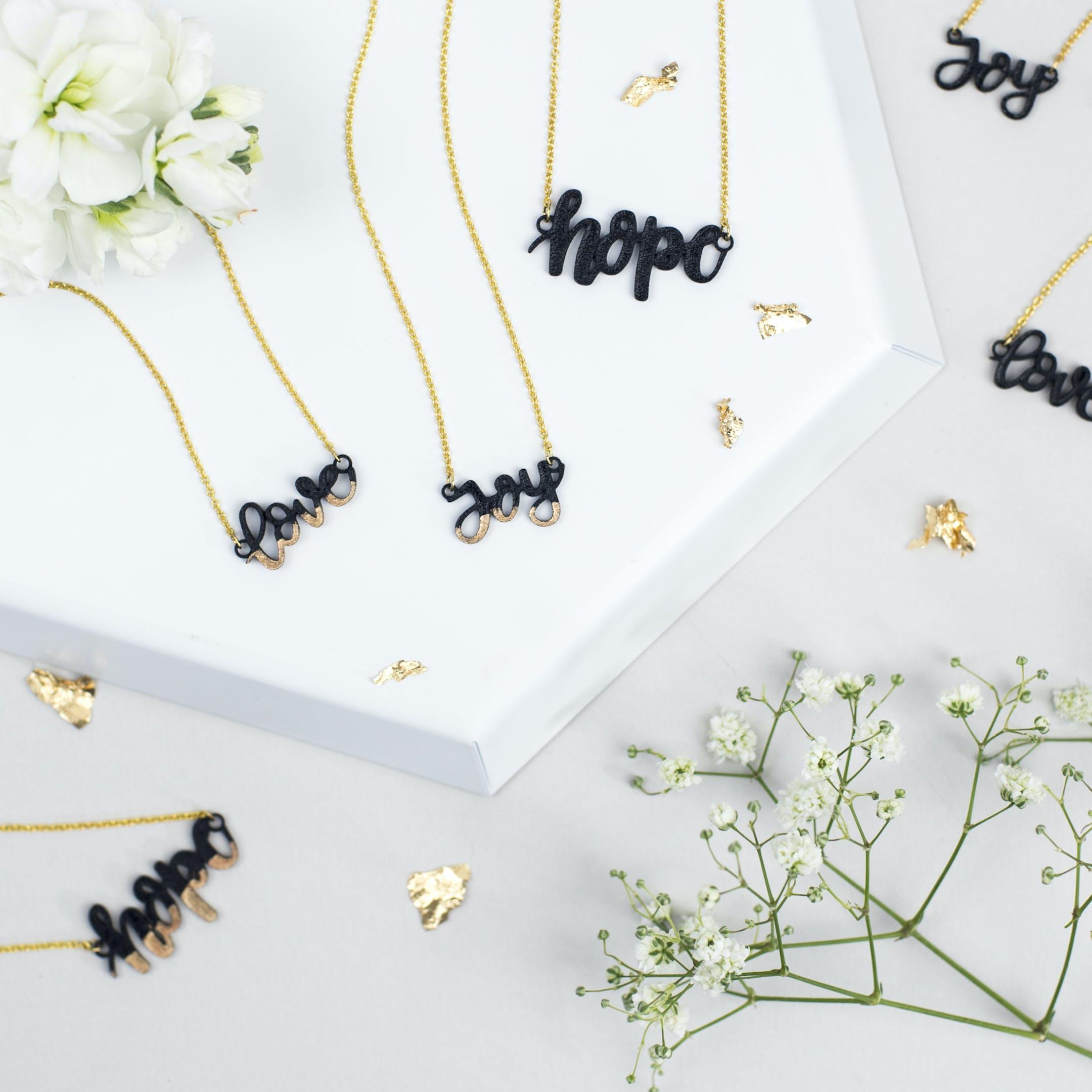 Love Joy Hope Necklaces - Izzy and Pop - Bloom Jewellery