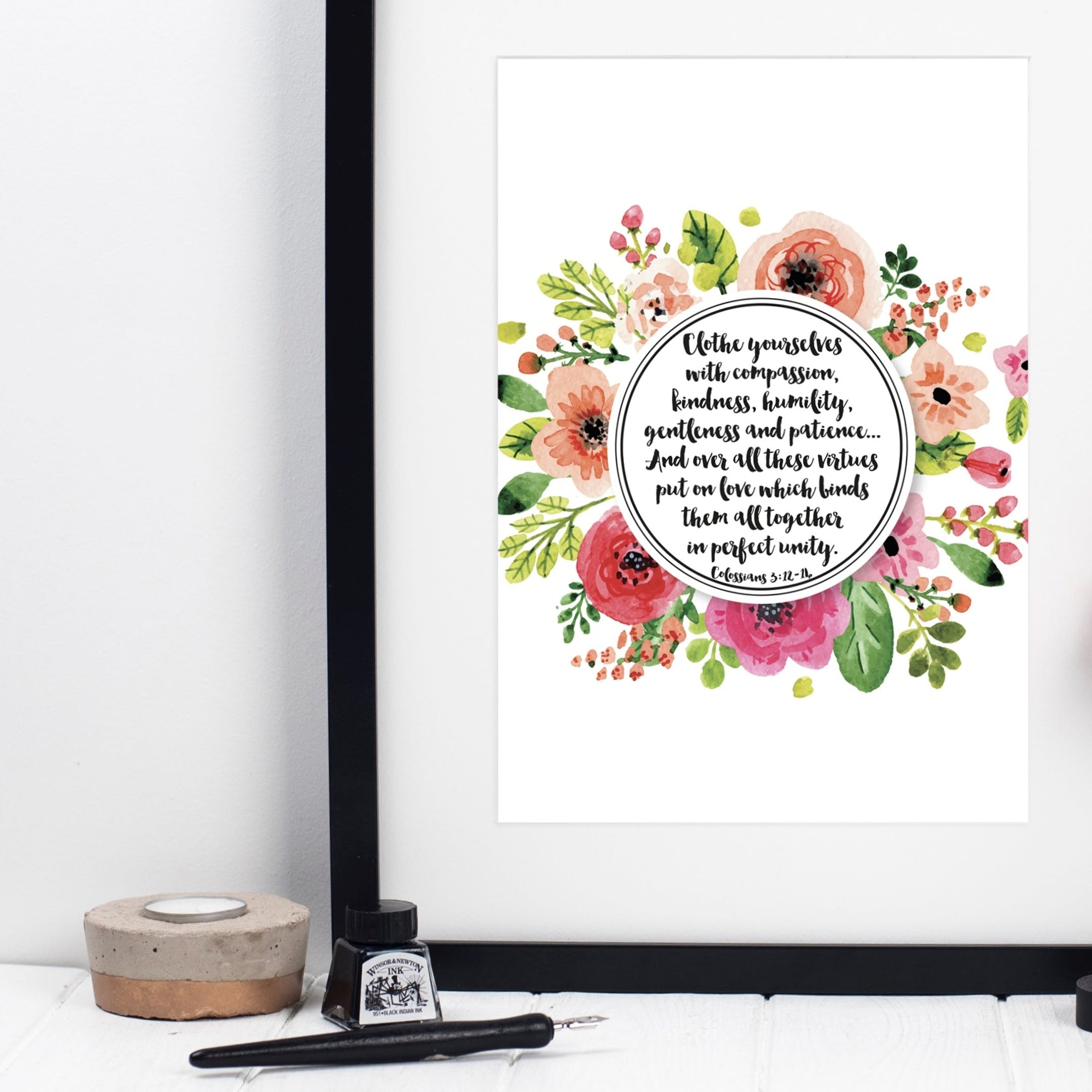 Clothe Yourselves With Compassion - Colossians 3:12-14 Print - Izzy and Pop