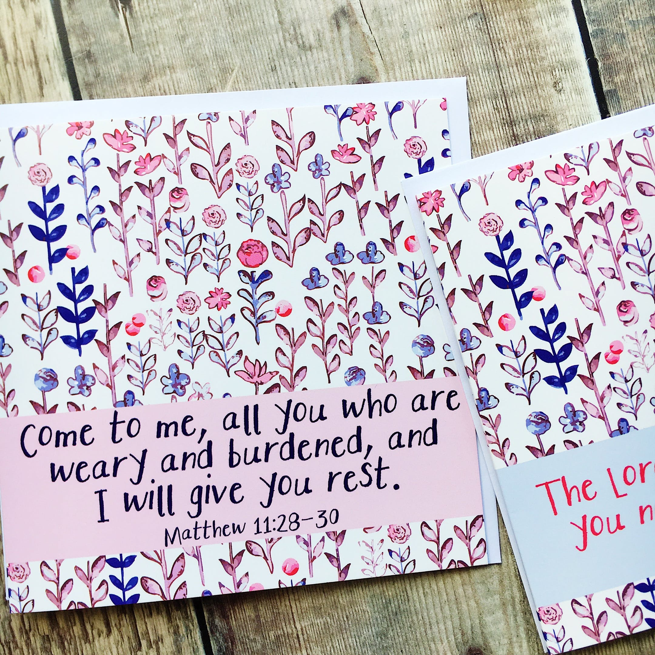 Come To Me Card - Matthew 11:28-30 - Izzy and Pop