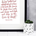 Ephesians 3:17-18 Print - How Deep Is The Love Of Christ - Izzy and Pop