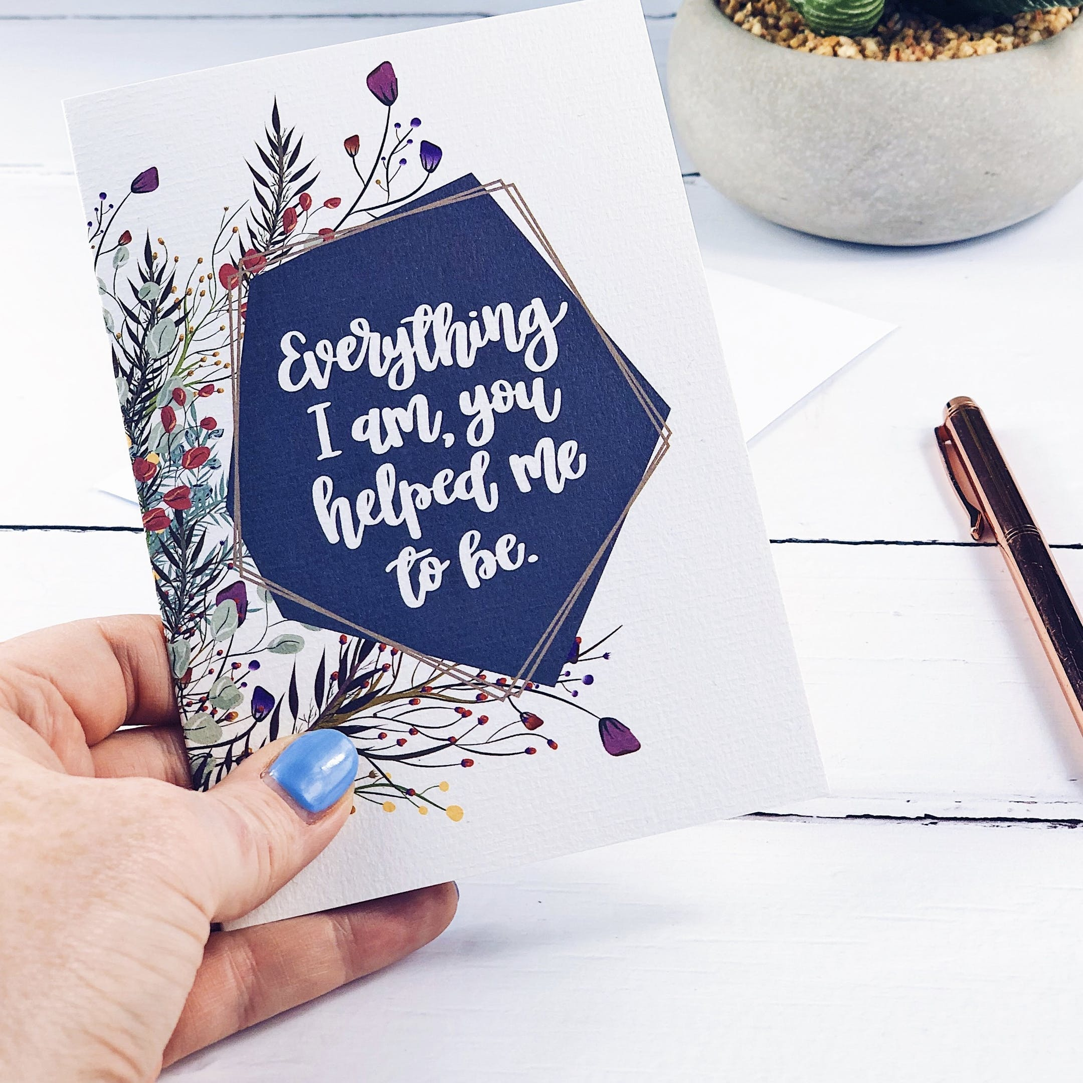 Everything I Am Floral Card - Izzy and Pop