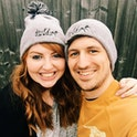 Faith Can Move Mountains Beanie Hat Couple - Izzy and Pop