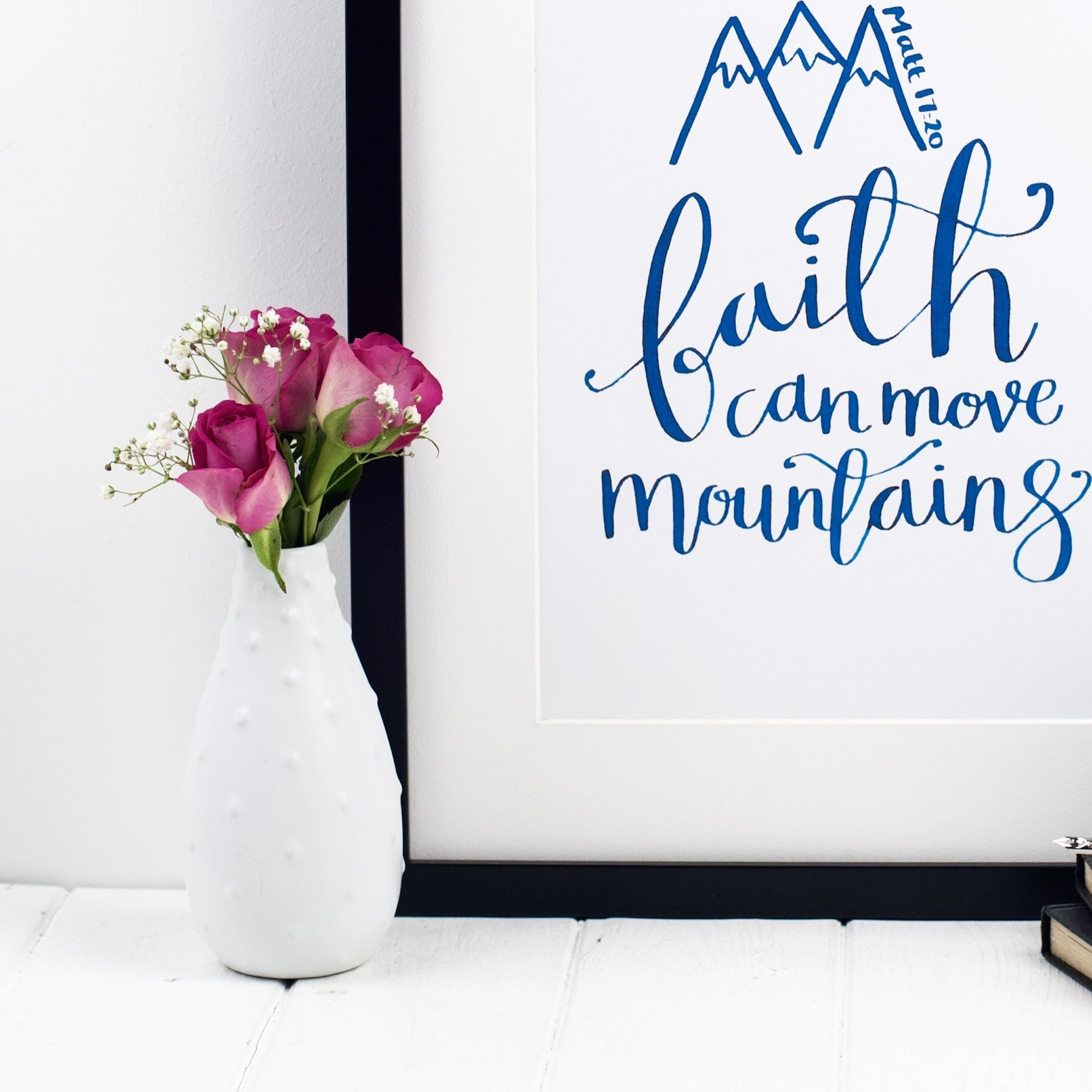 Faith Can Move Mountains - Matthew 17:20 Print - Izzy and Pop