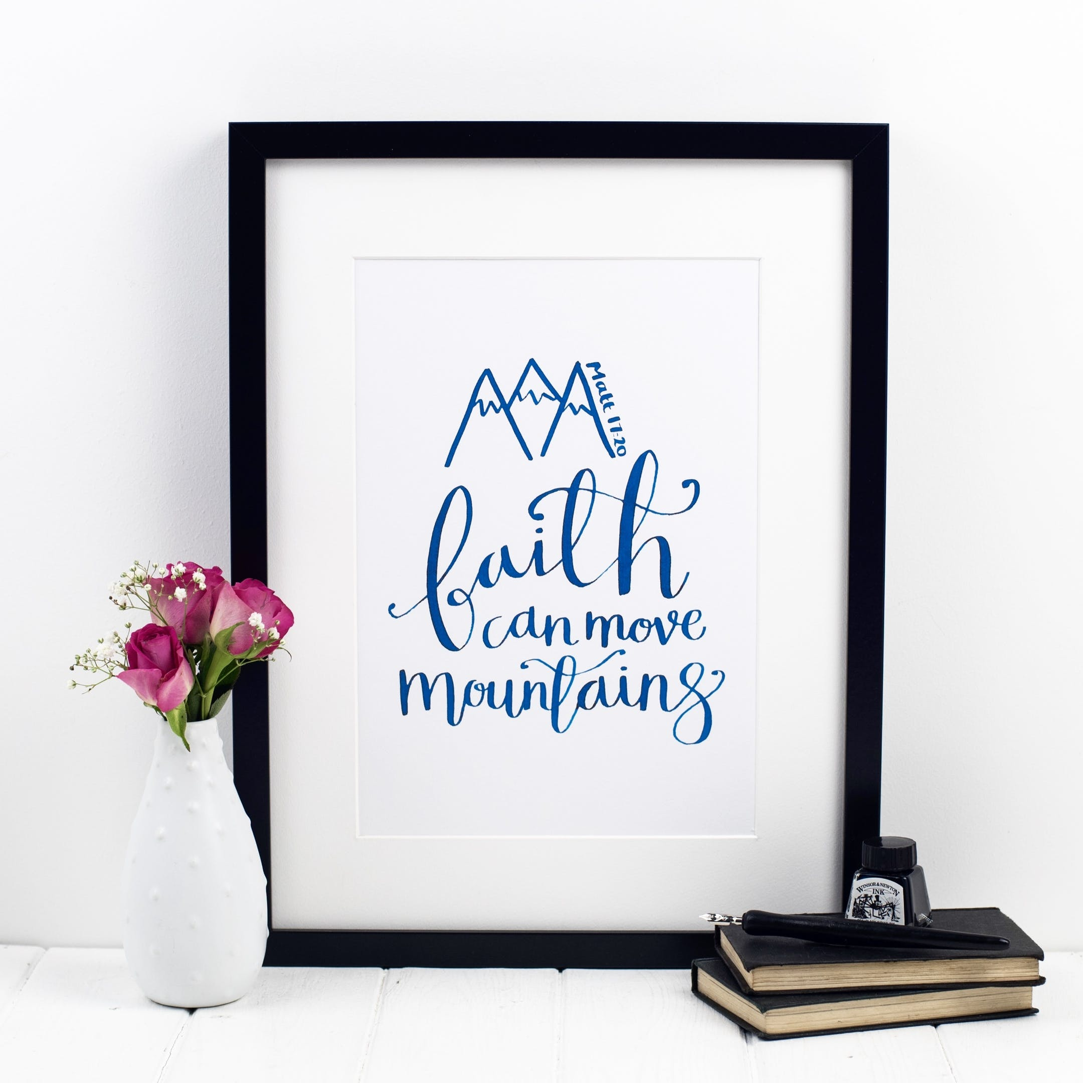 Faith Can Move Mountains Print - Matthew 17:20 - Izzy and Pop