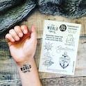 Faith Temporary Tattoos - Izzy and Pop