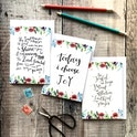 Floral Faith Encouragement Card Set - Izzy and Pop