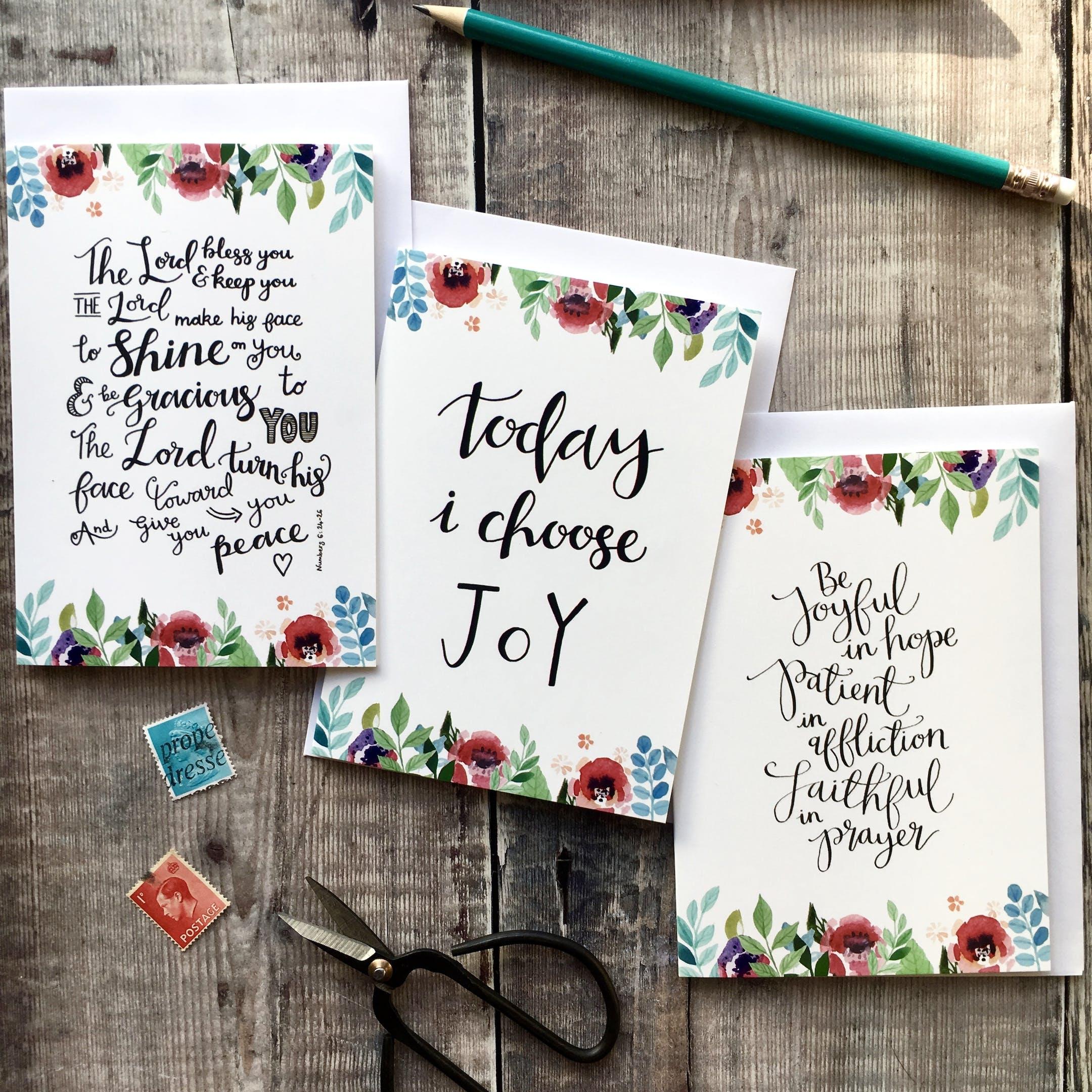 Floral Faith Encouragment Card Set - Izzy and Pop