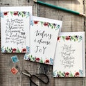 Floral Faith Encouragment Card Set - Izzy and Pop
