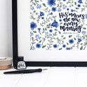 Floral Print - His Mercies Are New Every Morning - Lamentations 3:22-23 Print - Izzy and Pop