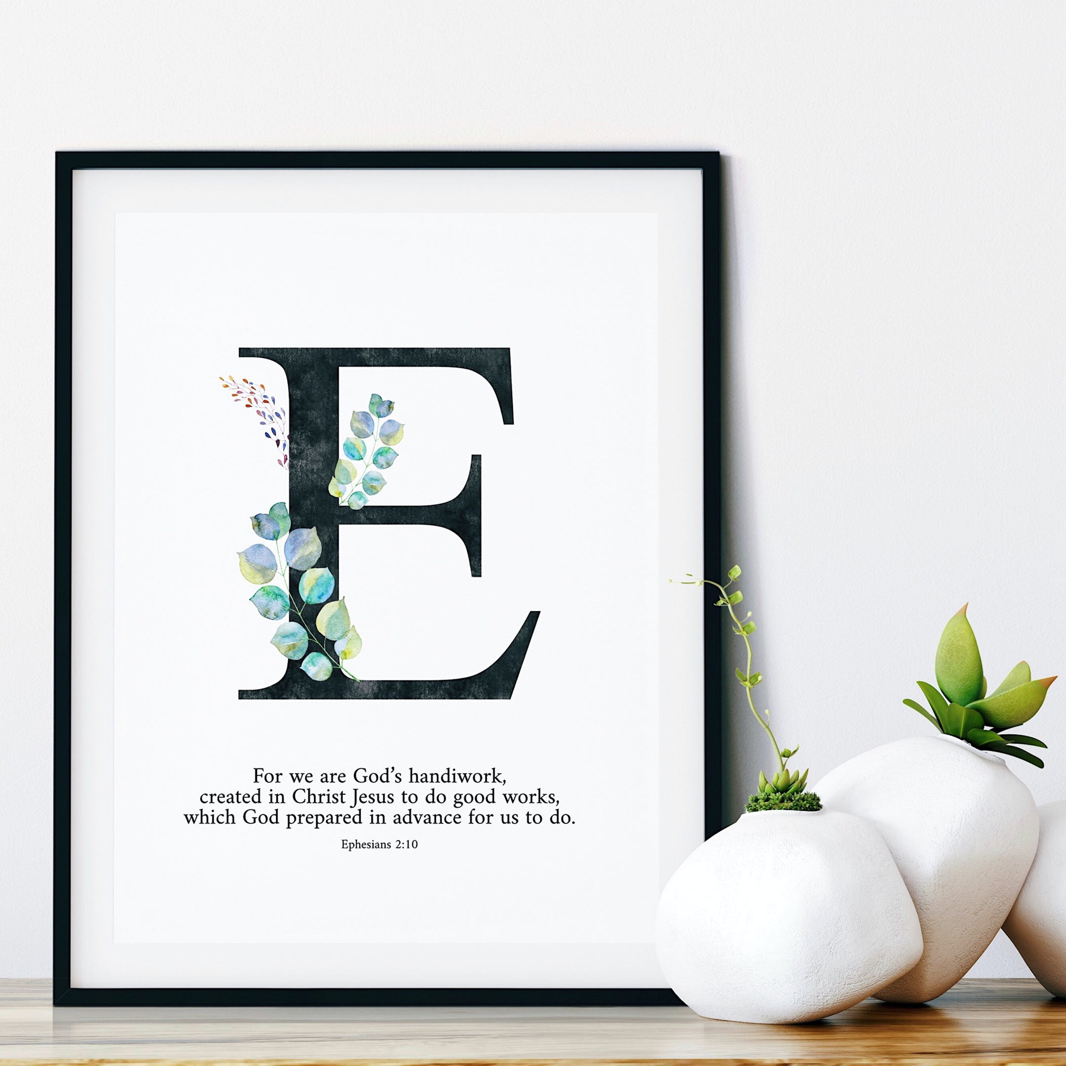 For We Are God's Handiwork Personalised Print - Ephesians 2:10 - Izzy & Pop