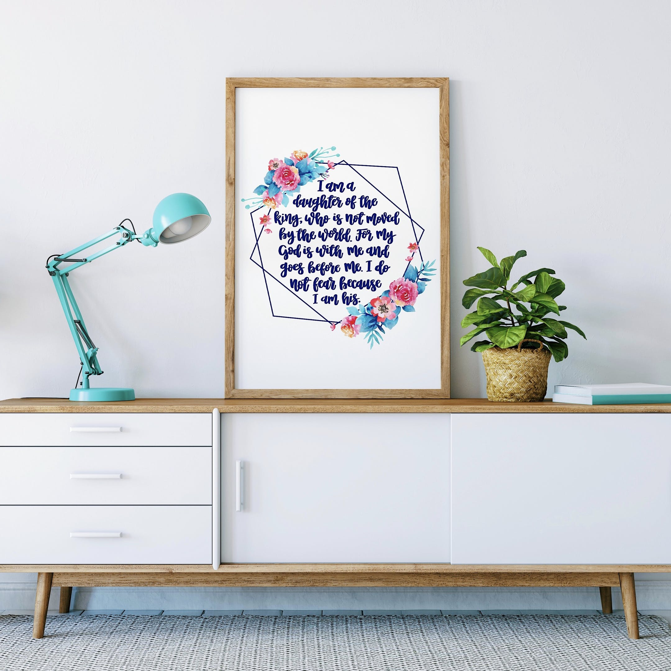 Geo Print Personalised 2 - I Am A Daughter Of The King - Izzy and Pop
