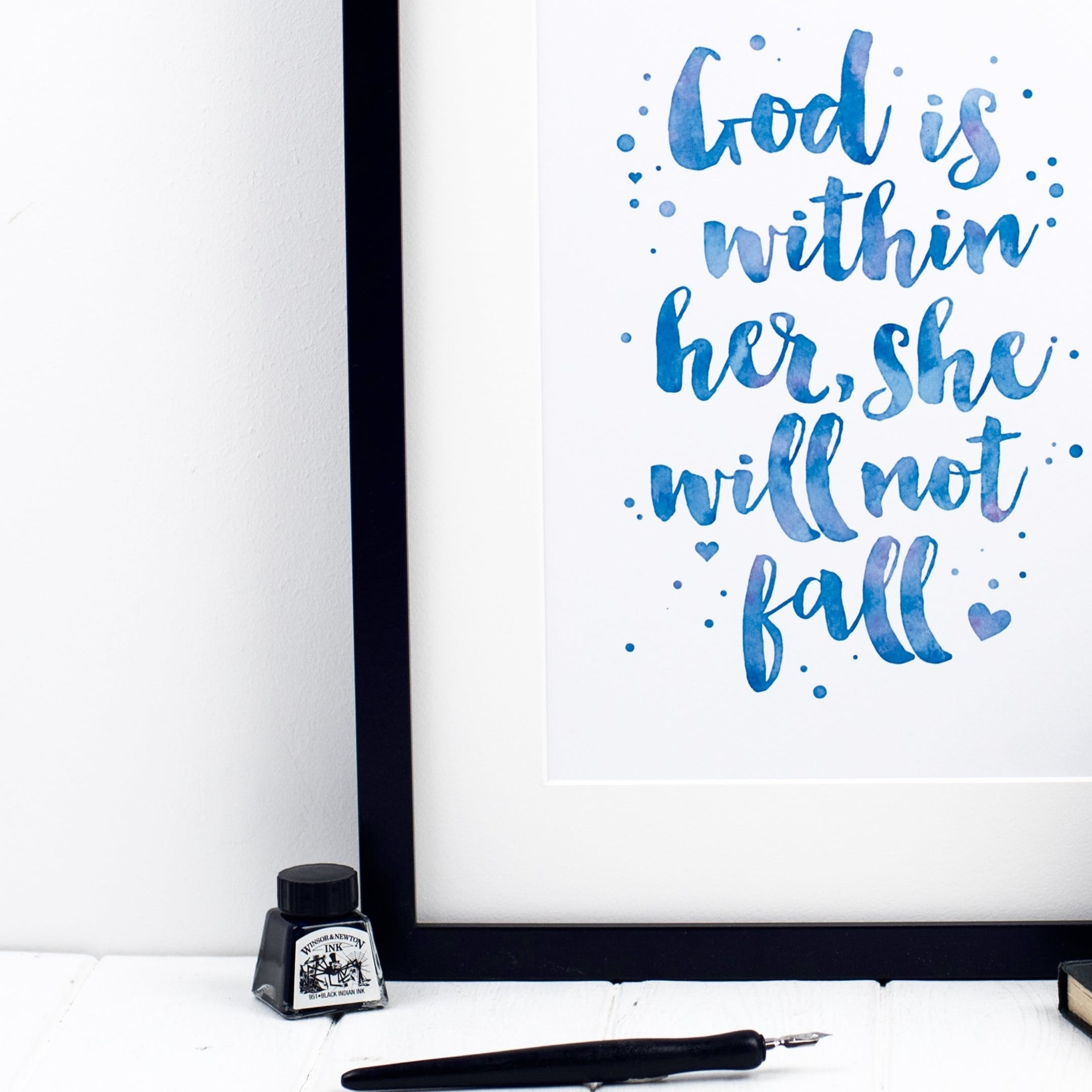 God Is Within Her She Will Not Fall - Psalm 46:5 Print - Izzy and Pop