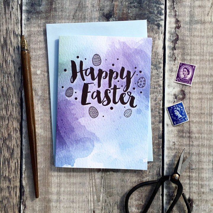 Happy Easter A6 Card - Izzy and Pop