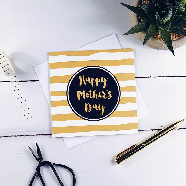 Happy Mother's Day Gold Card - Izzy and Pop