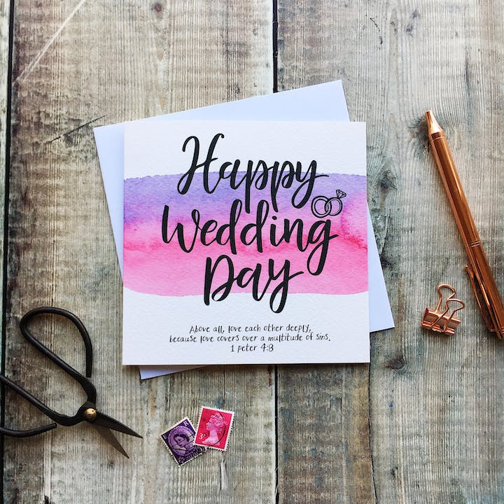Happy Wedding Day Card - 1 Peter 4:8 - Izzy and Pop