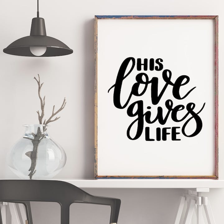 His Love Gives Life Print - John 10:10 - Izzy and Pop
