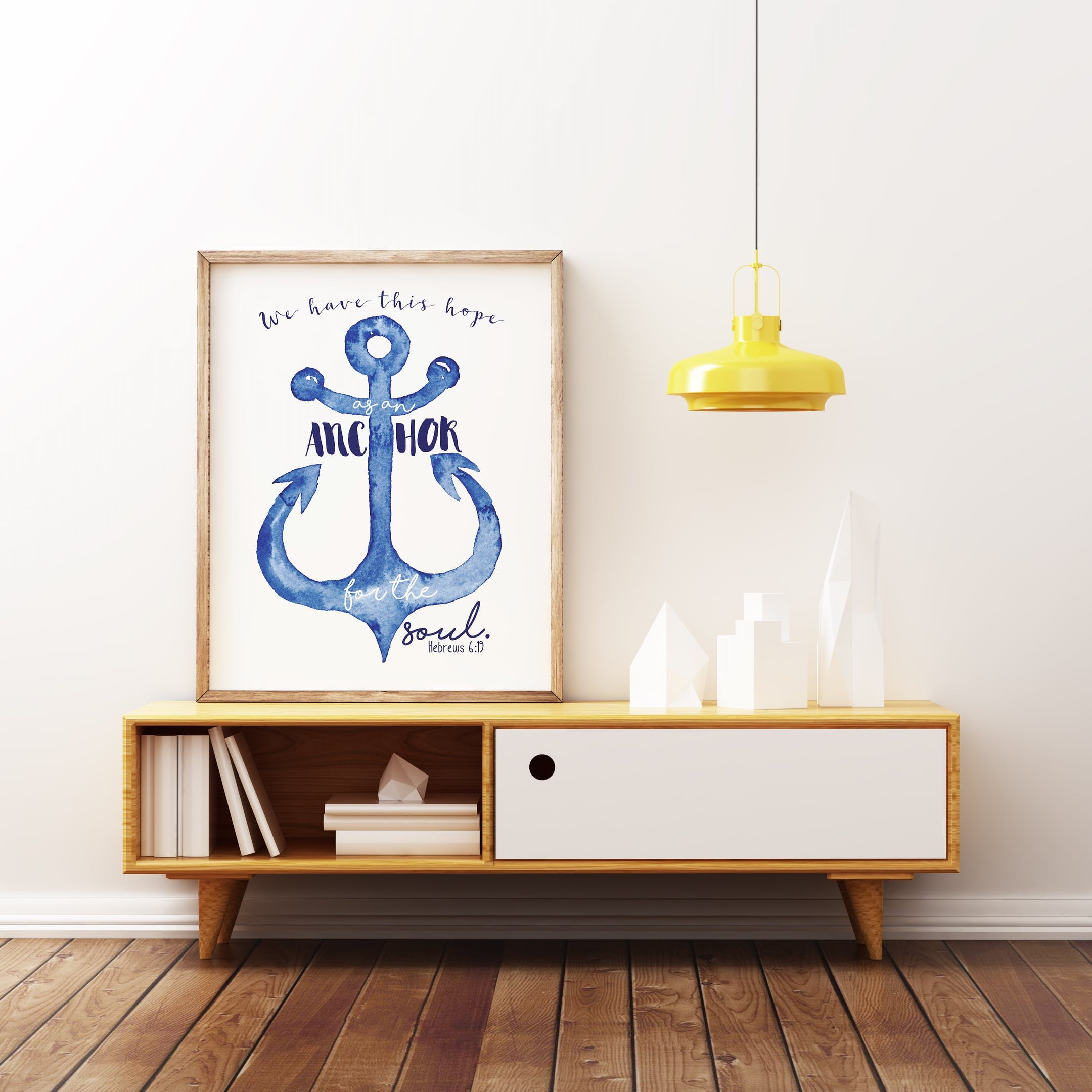 Hope As An Anchor - Hebrews 6:19 Print - Izzy and Pop