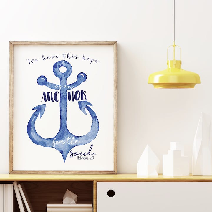 Hope As An Anchor Print - Hebrews 6:19 - Izzy and Pop