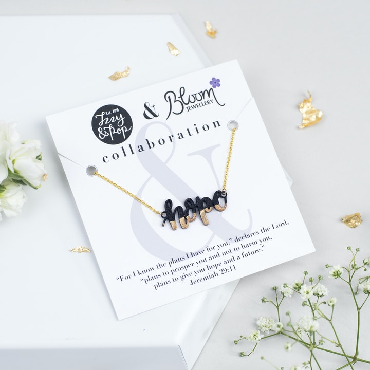 Hope Gold-Dipped Necklace - Izzy and Pop - Bloom Jewellery