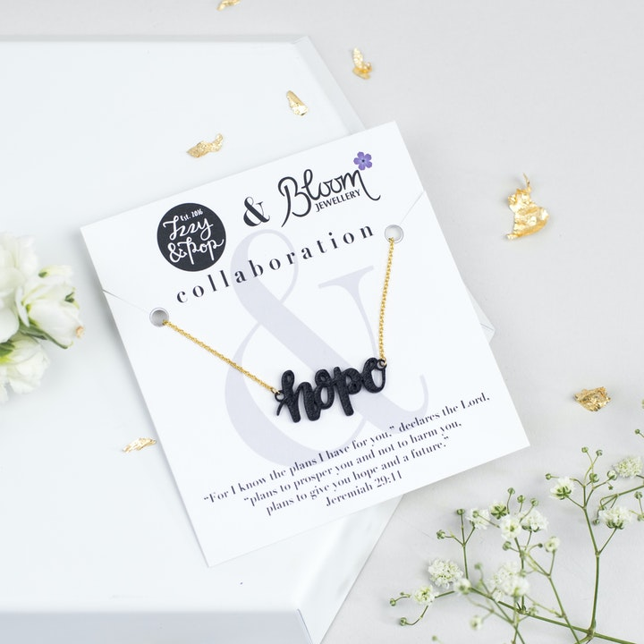 Hope Necklace - Gold-Plated - Izzy and Pop - Bloom Jewellery