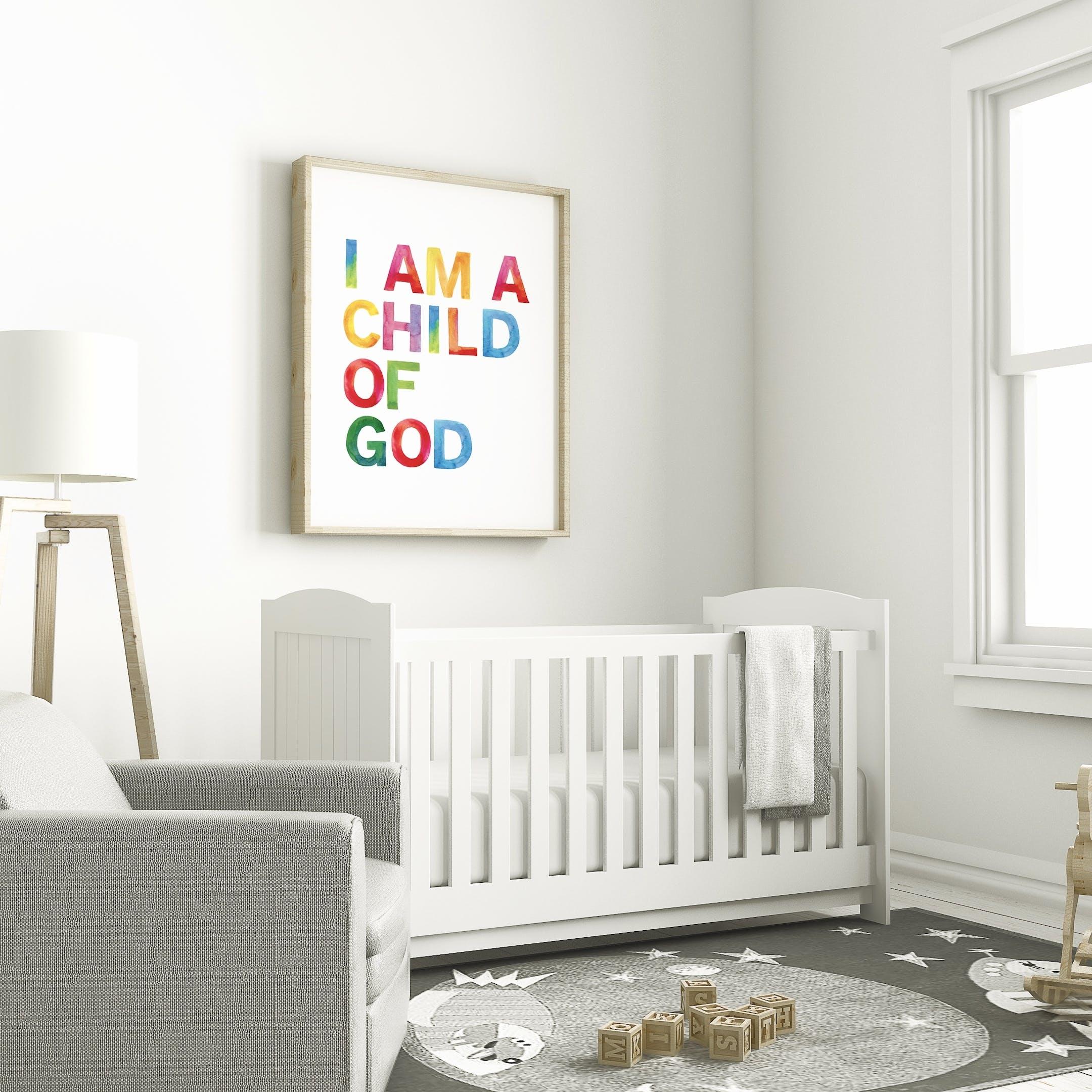 I Am A Child Of God Christian Nursery Print - Izzy and Pop