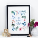 I Am A Child Of God - John 1:17 Print - Izzy and Pop