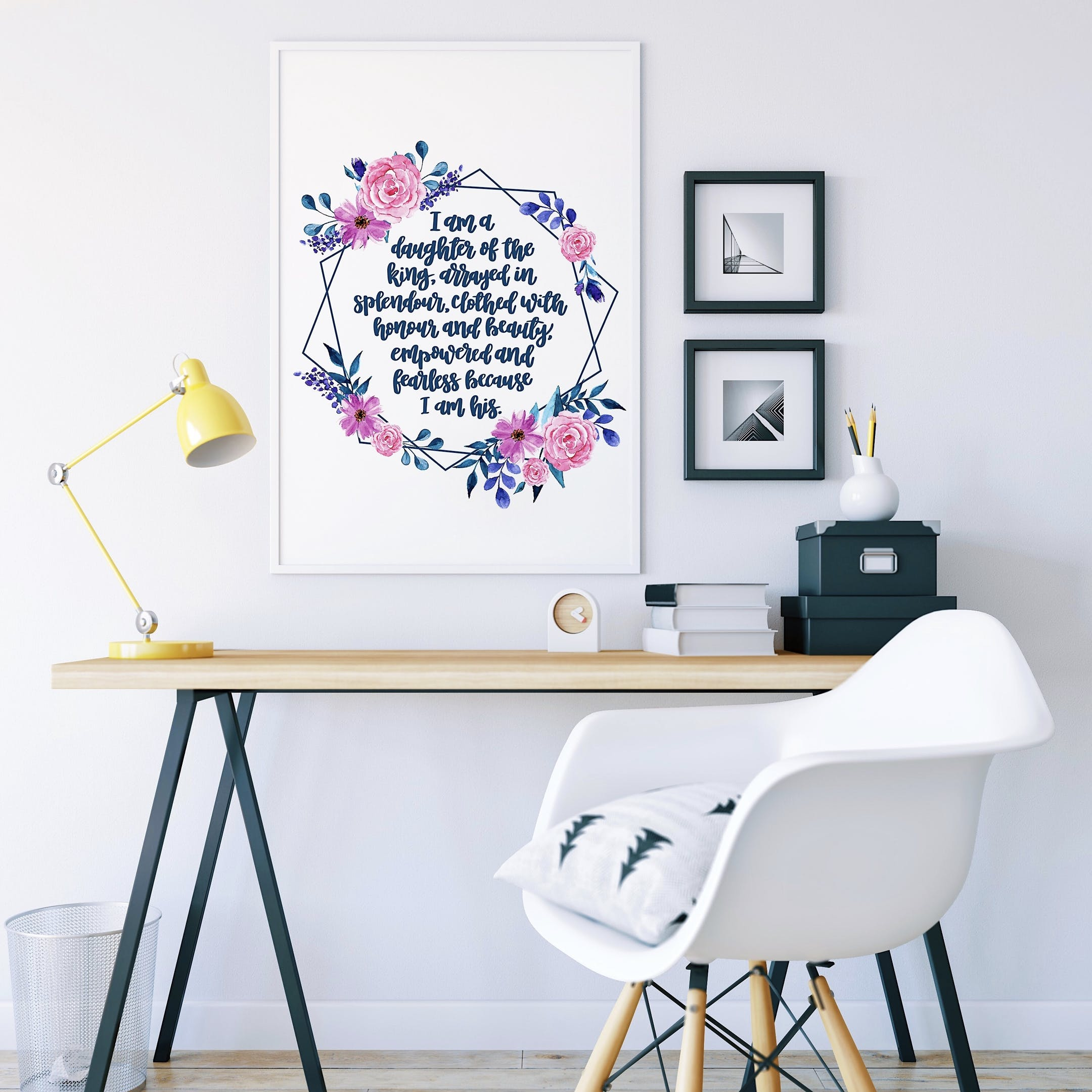 I Am A Daughter - Personalised Floral Print - Izzy and Pop