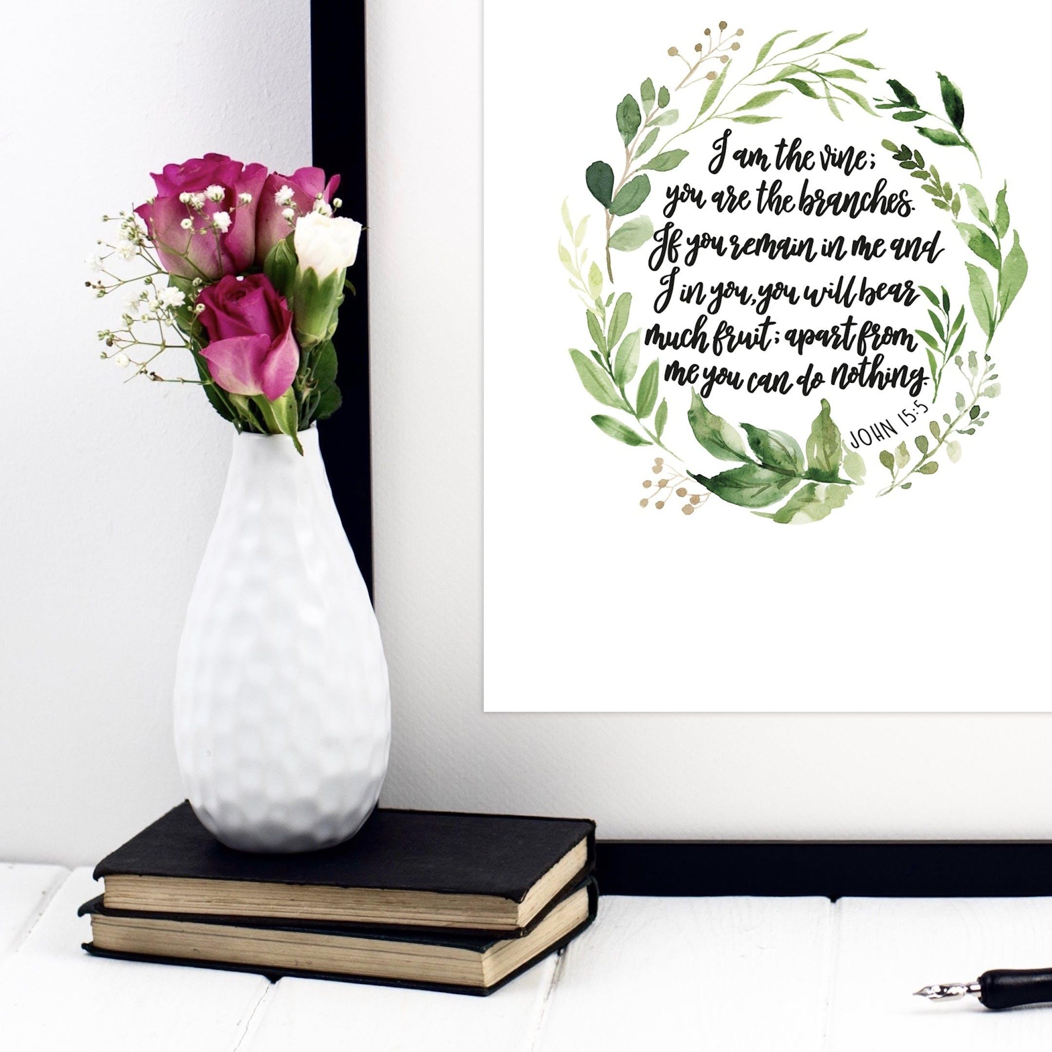 I Am The Vine Print - John 15:5 - Izzy and Pop