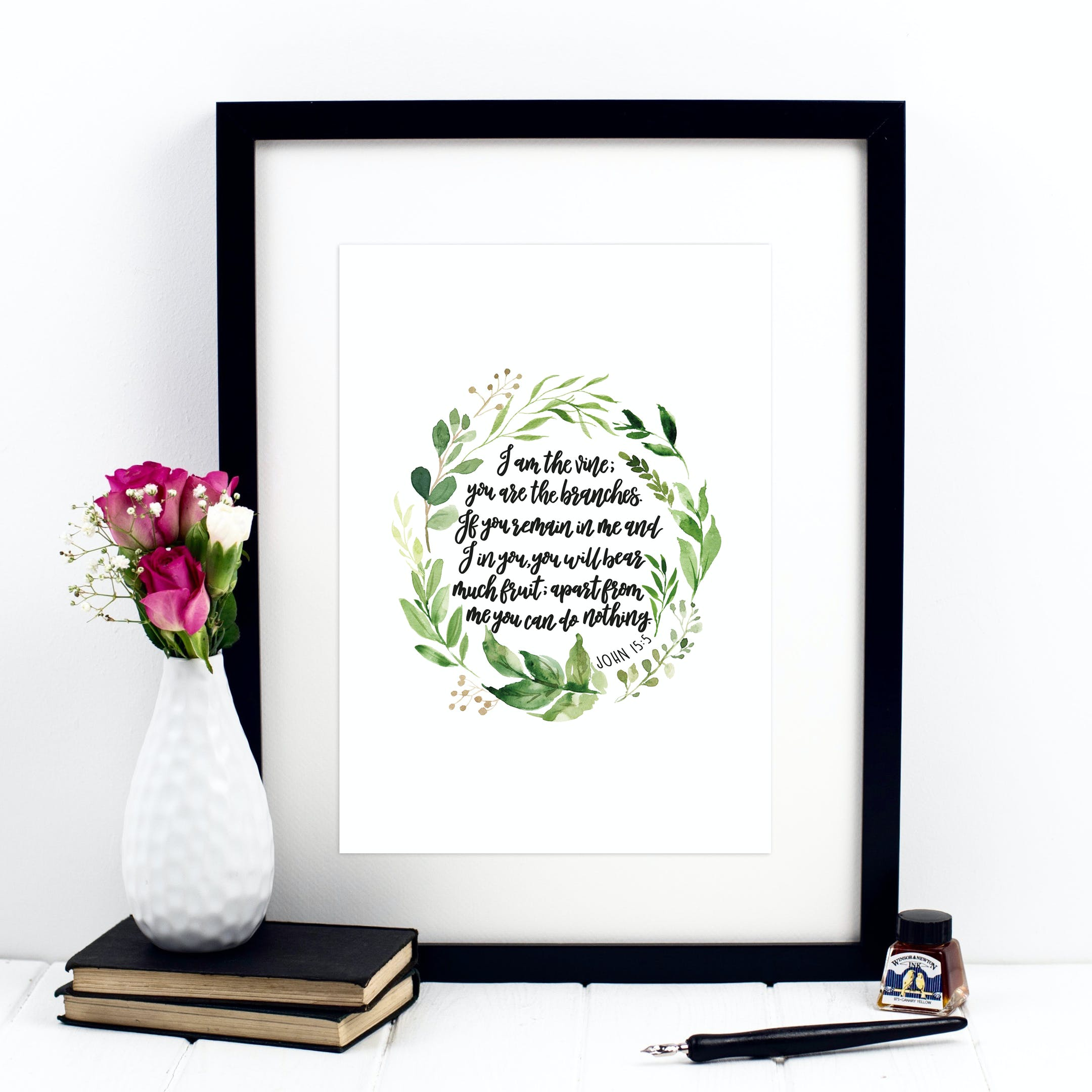 I Am The Vine, You Are The Branches Print - John 15:5 - Izzy and Pop