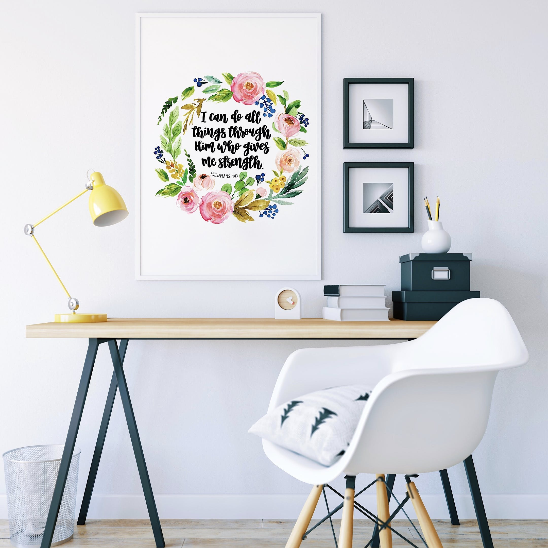 I Can Do All Things - Izzy and Pop Floral Print - Philippians 4:13