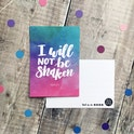 I Will Not Be Shaken Watercolour Postcard - Izzy and Pop