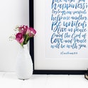 Izzy and Pop - 2 Corinthians 13:11 Print - We Wish You Happiness Wedding