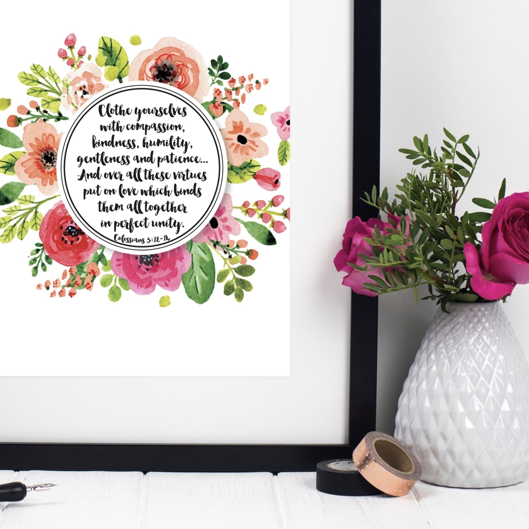 Izzy and Pop - Clothe Yourselves With Compassion Print - Colossians 3:12-14
