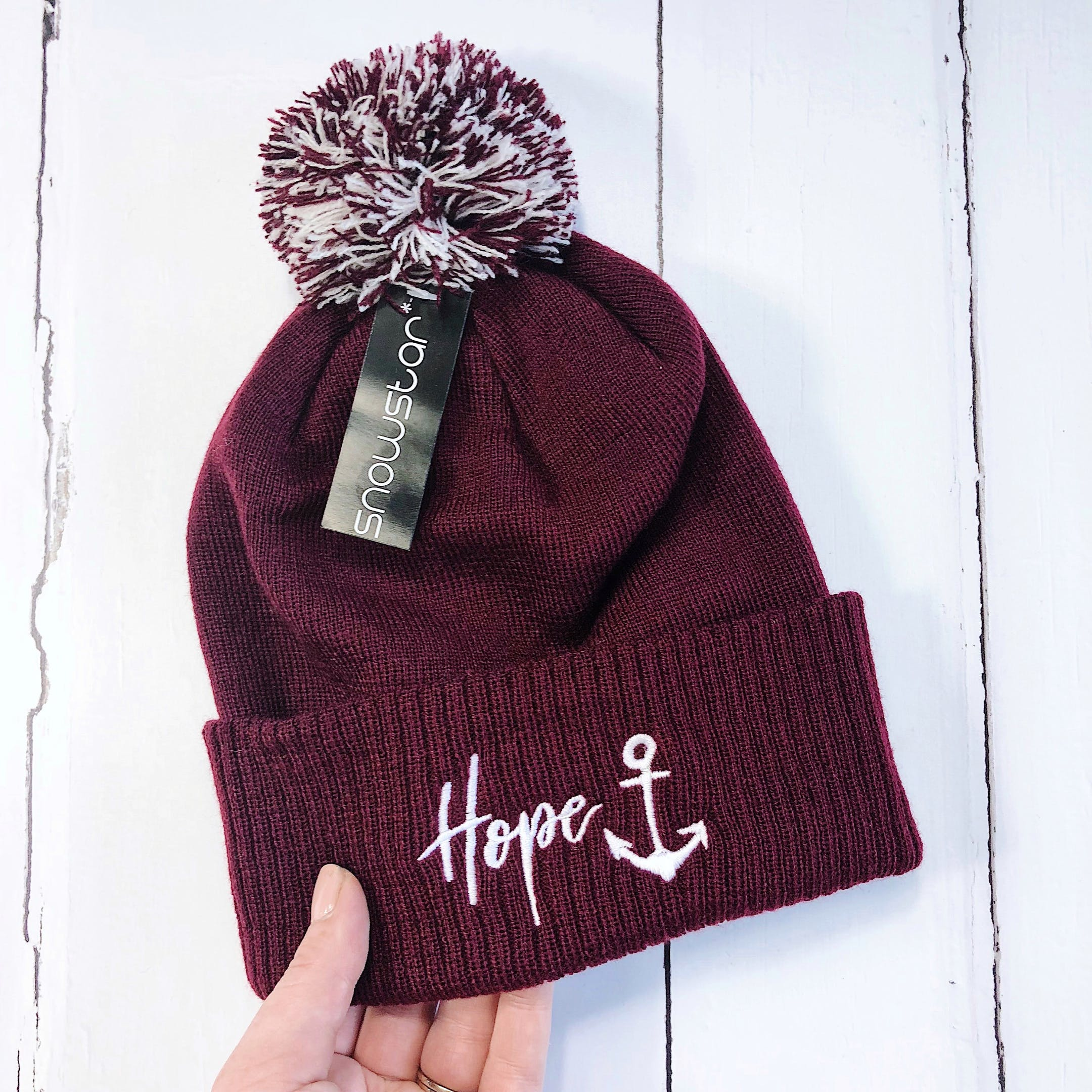 Izzy and Pop Hope Anchor Beanie Hat