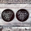 Izzy and Pop - Love & Grace Coasters - Set of 2