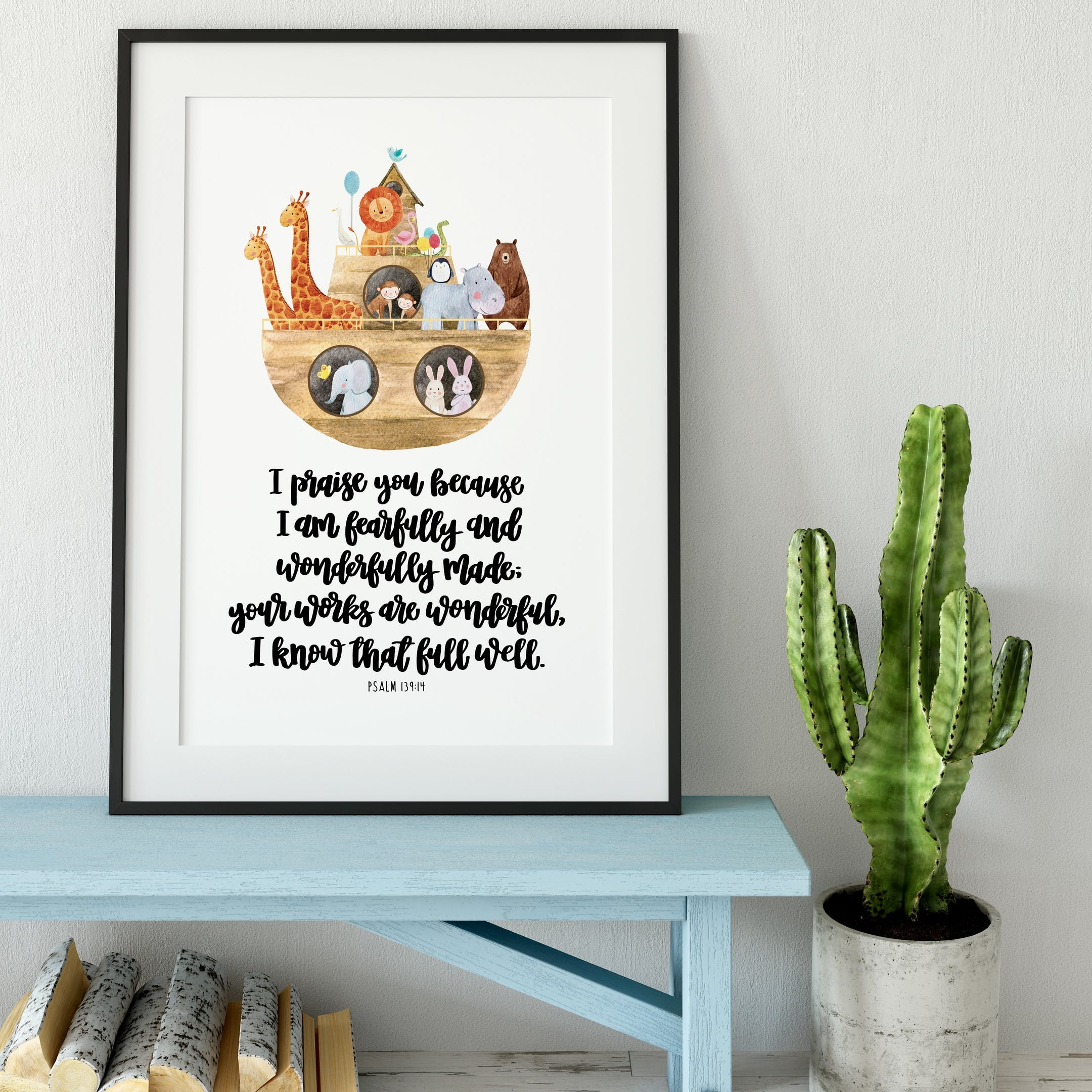 Izzy and Pop Print - I Am Fearfully And Wonderfully Made