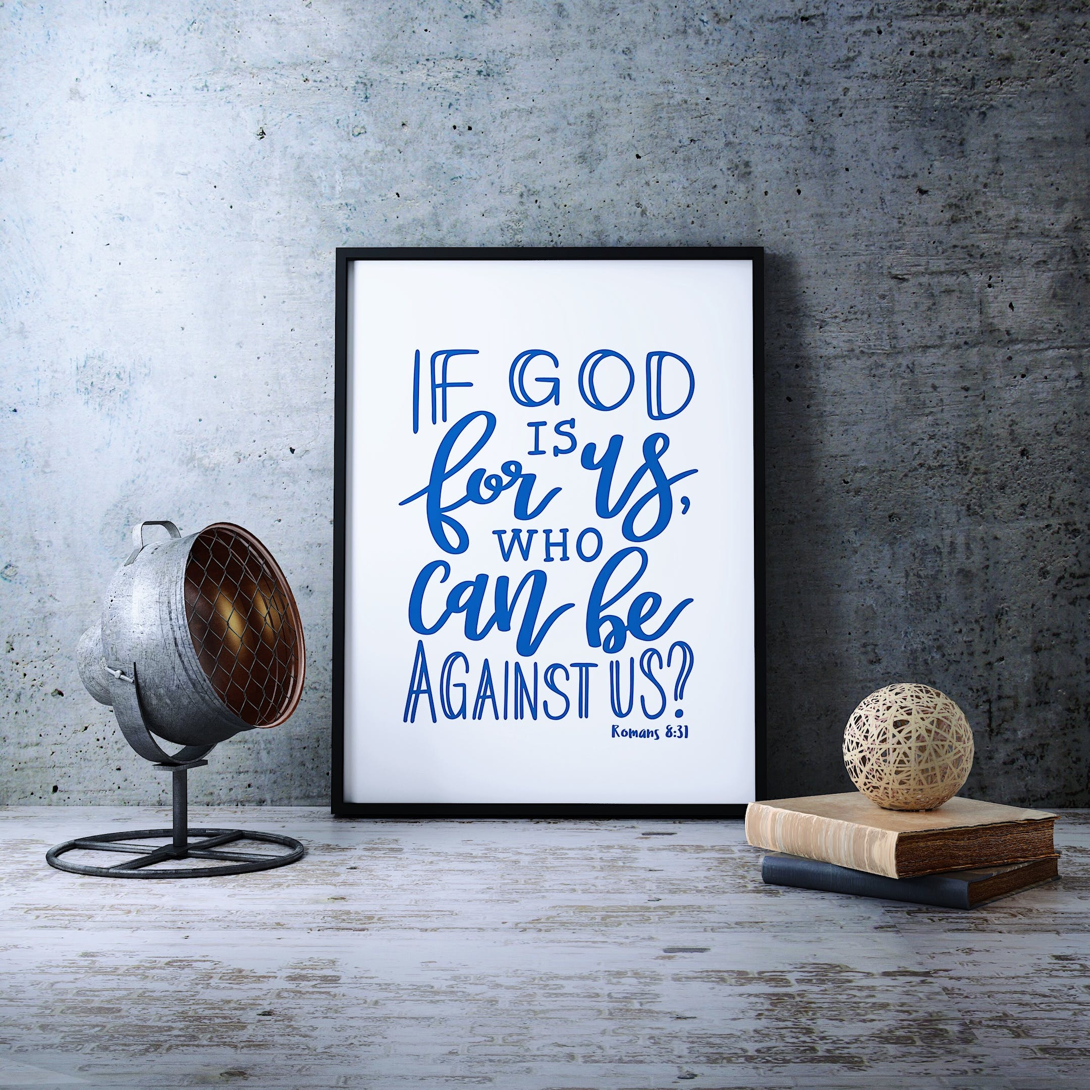 Izzy and Pop Print - Romans 8:31 - If God Is For Us