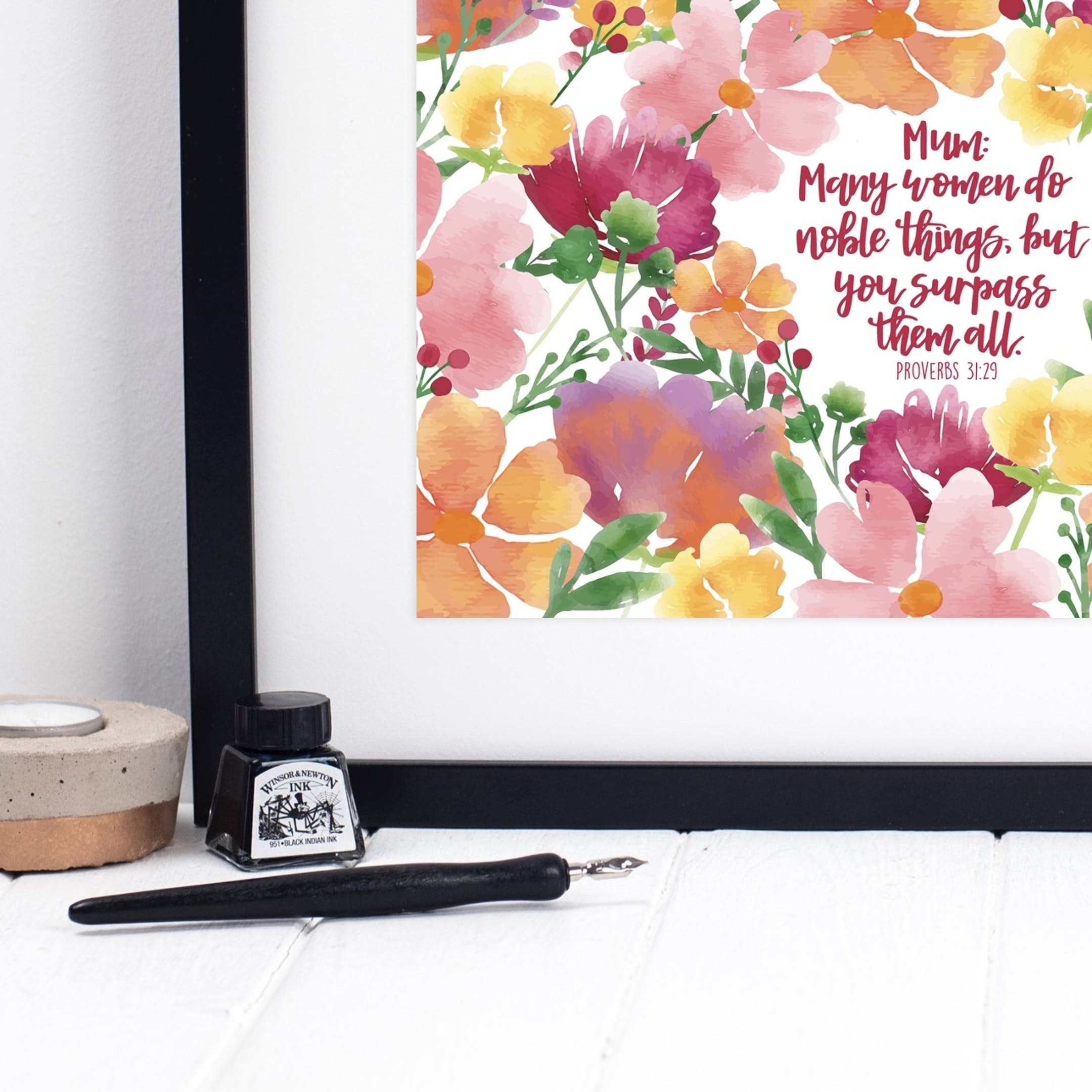 Izzy and Pop Proverbs 31:29 Print - Many Women Do Noble Things