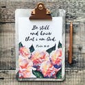 Izzy and Pop - Psalm 46:10 Print - Be Still And Know That I Am God