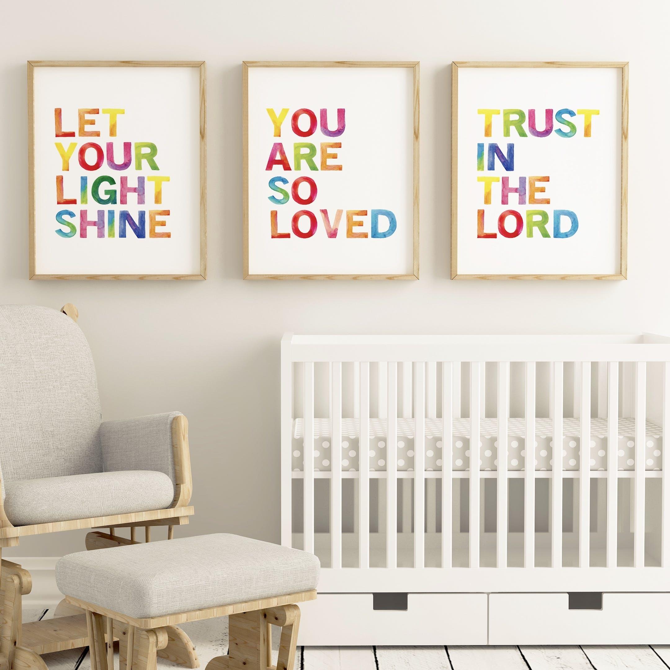 Izzy and Pop Rainbow Typography Print Set