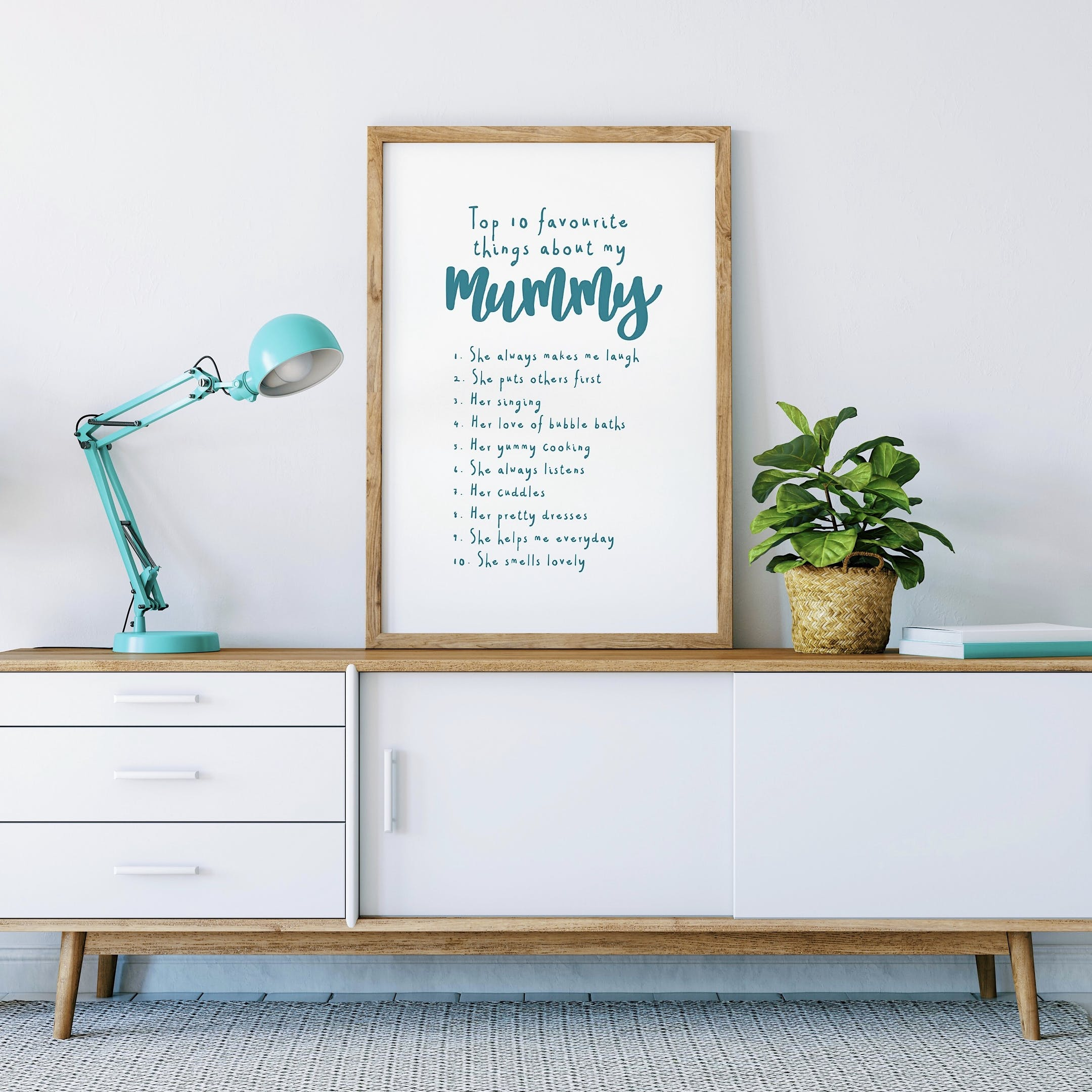 Izzy and Pop - Top 10 Favourite Things About My Mummy Print