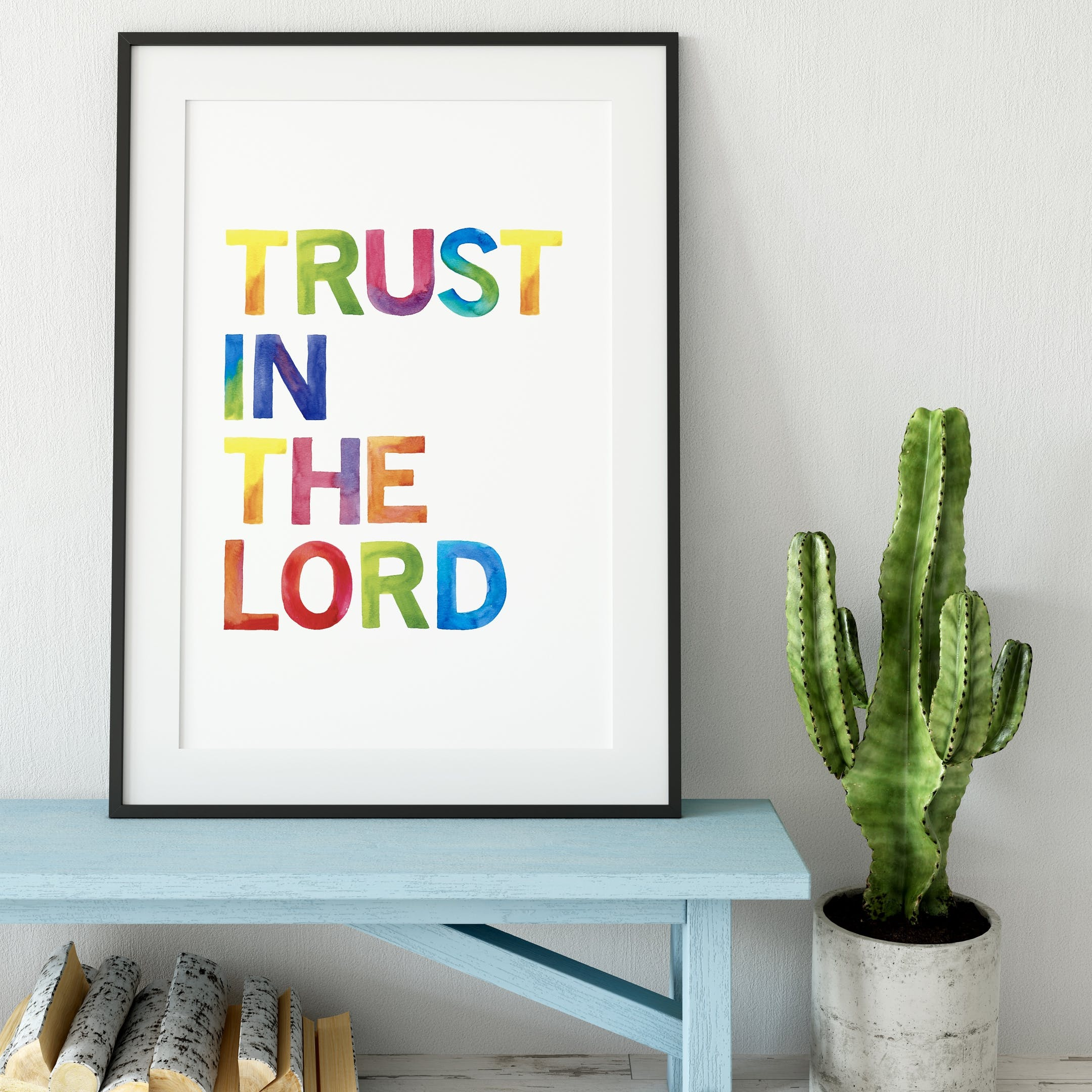 Izzy and Pop Trust In The Lord Rainbow Print