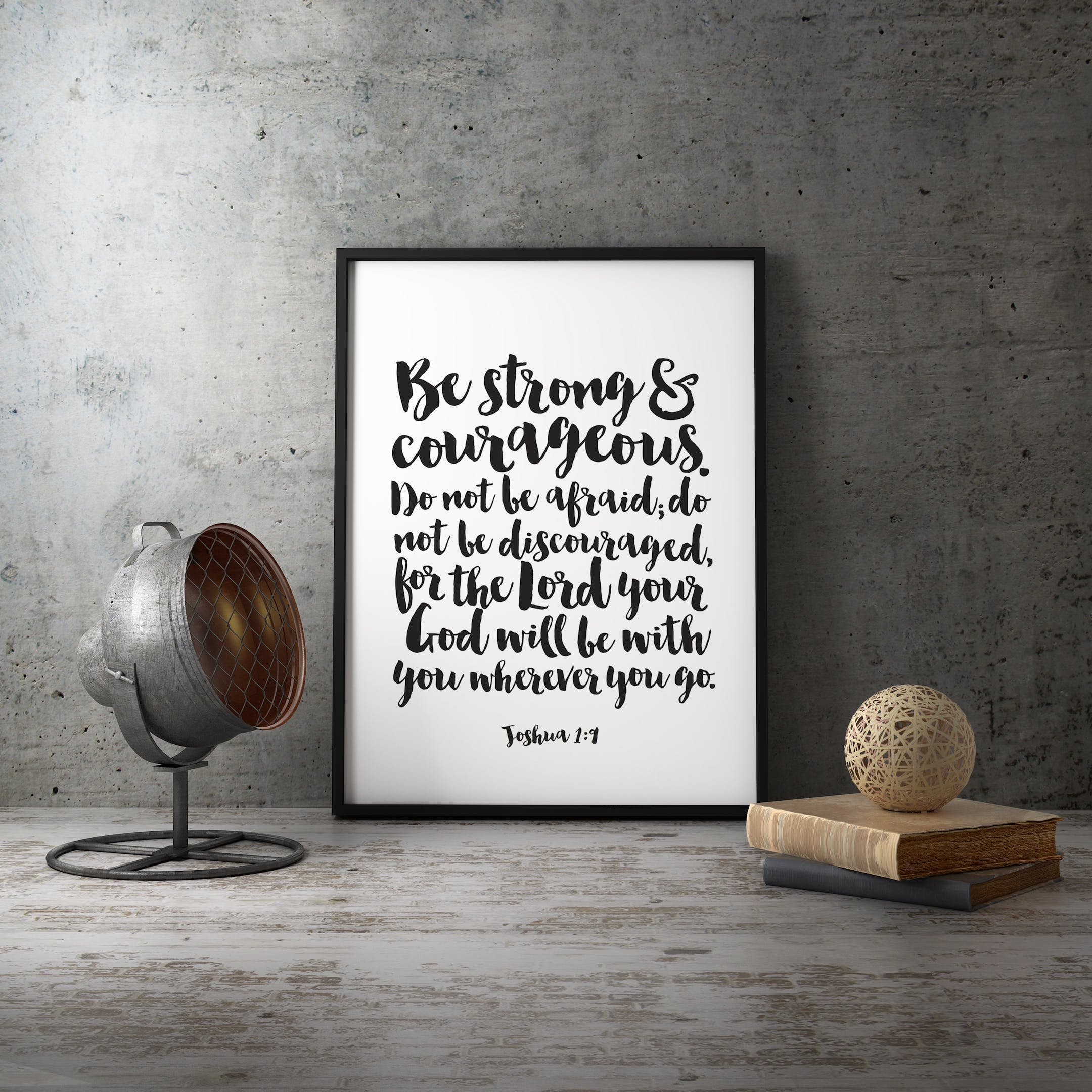 Joshua 1:9 Print - Be Strong And Courageous - Izzy and Pop