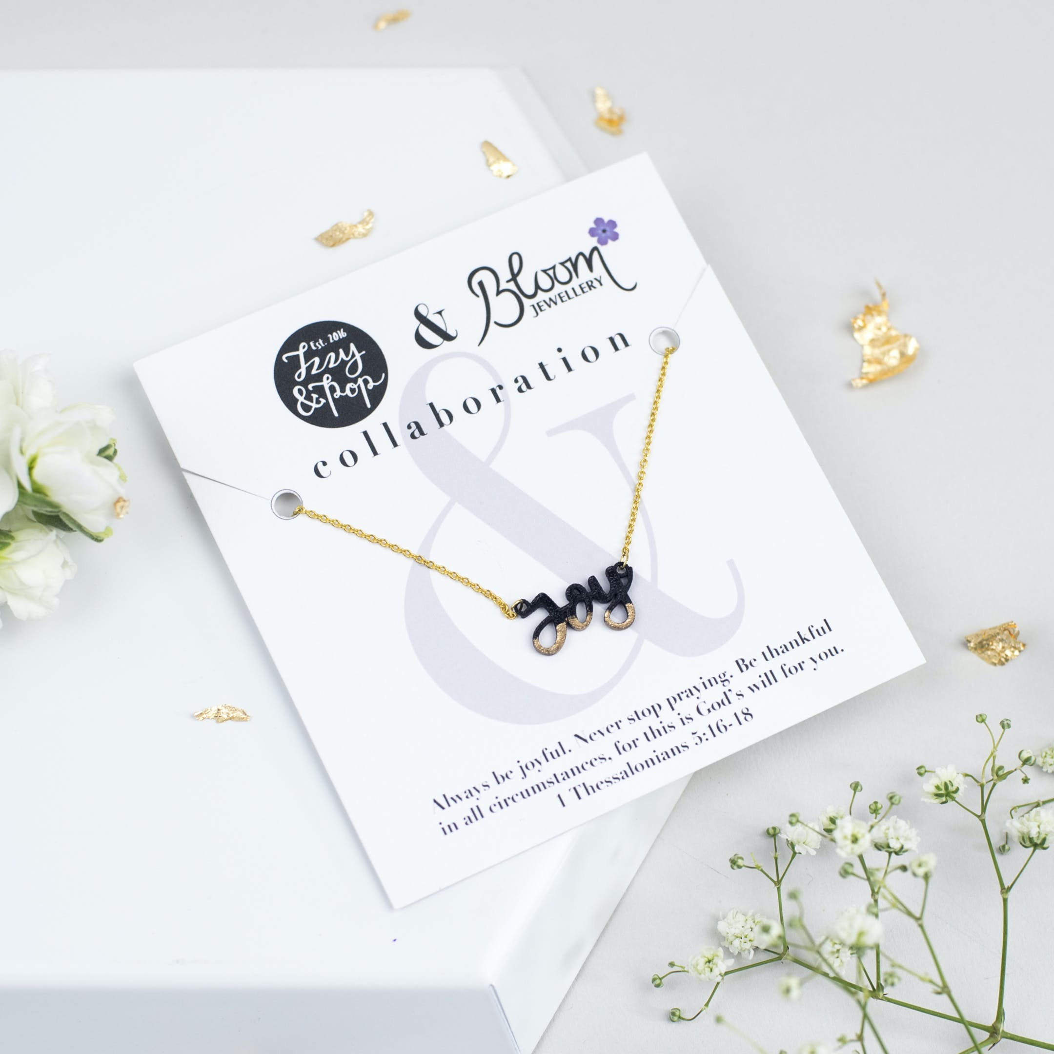 Joy Gold-Dipped Necklace - Izzy and Pop - Bloom Jewellery