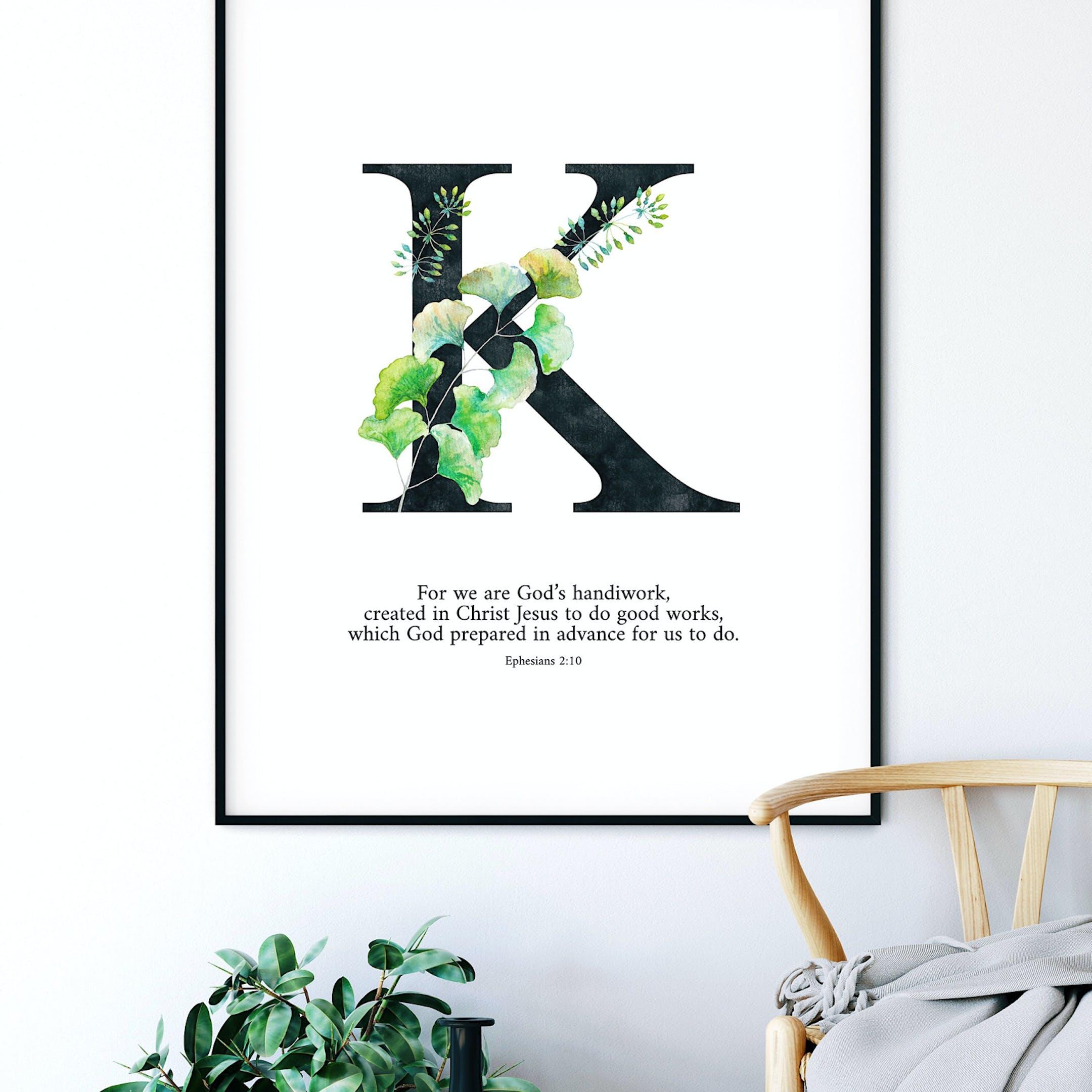 K Personalised Print - Ephesians 2:10 - Izzy & Pop