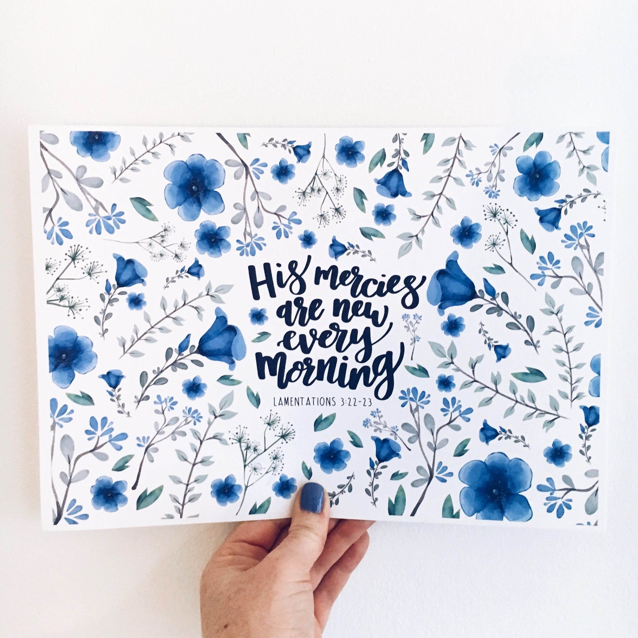 Lamentations 3:22-23 Print - His Mercies Are New Every Morning - Izzy and Pop