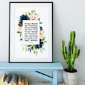 Lauren Daigle Song Lyrics Print - Izzy & Pop