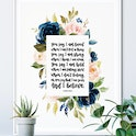 Lauren Daigle Song Lyrics Print - You Say I Am Loved - Izzy & Pop